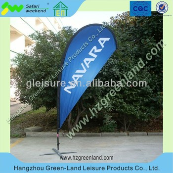 aluminum frame advertising beach flag, banner displays, Custom printing Mesh banner