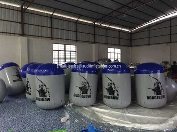 PVC used inflatable paintball bunkers for sale