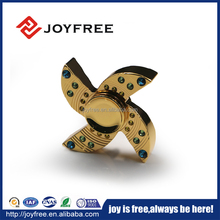 Hot Selling Relieve Stress Birthday Gift high quality Hand Spinner ABS Material and Diamond Inlay, 606/608 bearing fidget spinne