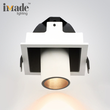 Indoor lights zhongshan cut out 90*90MM 6.2w 15/25/38 beam angle recessed commercial cob led downlights