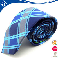 custom plaid 100% pure silk man necktie manufacturer china