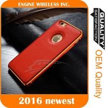 metal bumper leather back cover case for samsung galaxy s3
