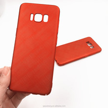 Matte Texture Red Color Mobile Phone case For S8, For Samsung PC case