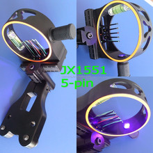 JX1551 Bow sight, 5-pin optical bow sight, hunting compound bow and arrow sight