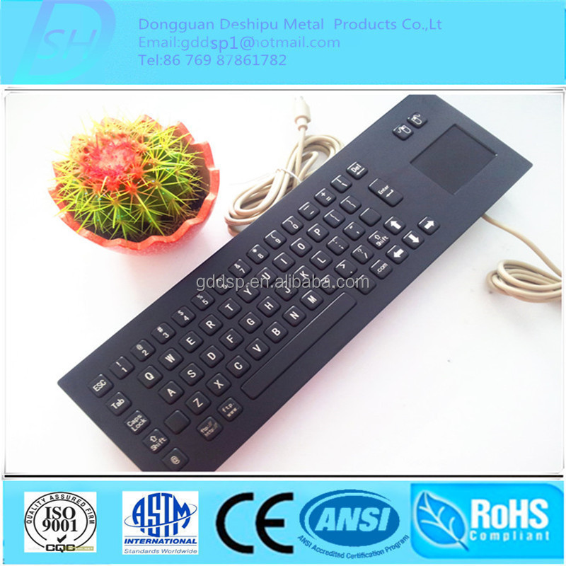 Industrial USB/PS2 Metal Keyboard/Metal Keyboard with Touchpad