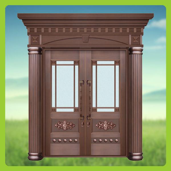 Guangdong Unique Home Designs Copper Security Door Iron Main Gate Designs B
