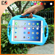 shockproof kids cute silicone case for ipad air,silicone PC case for apple ipad
