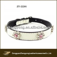 2014 new pet products,leather vest pattern dog leather collar with berries diamond