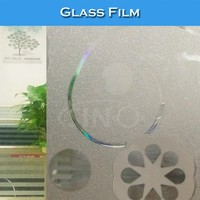 BL34 No Glue Static Electricity Decorative 3D Glass Window Tint Colors