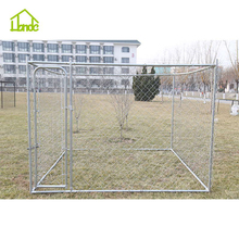 large outdoor galvanized chain link metal large animal cage