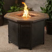 "36""Decorative Slate Tile LP Gas Outdoor Fire Pit Table with FREE Cover"