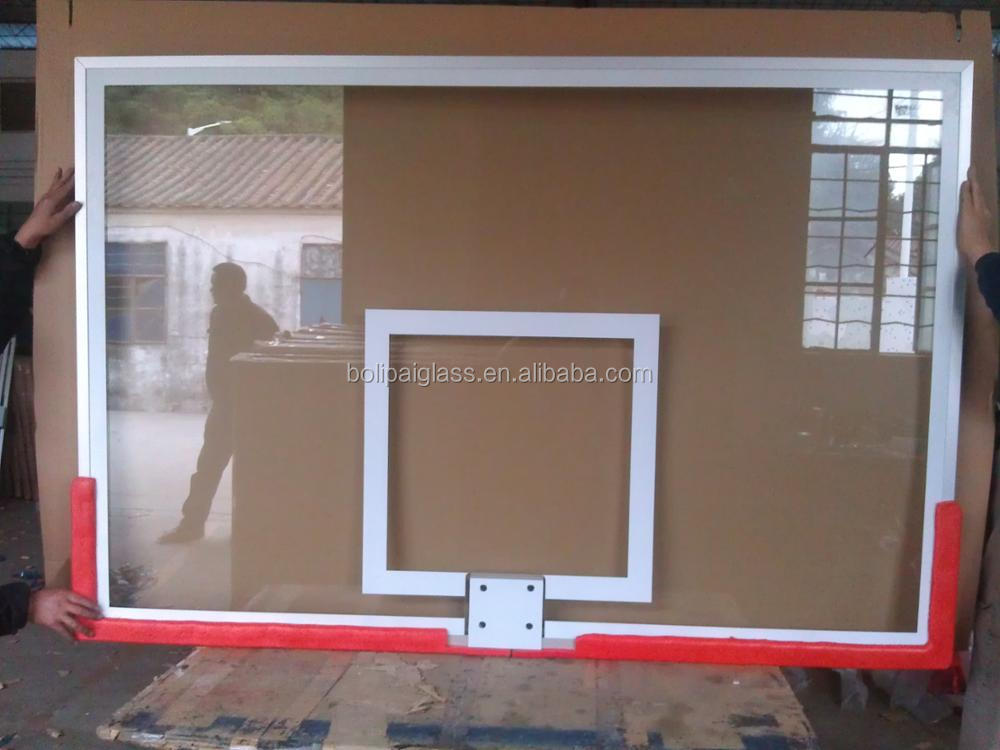 All Alumimum Frame,Tempered&Insulation Glass Basketball Backboard For Sale