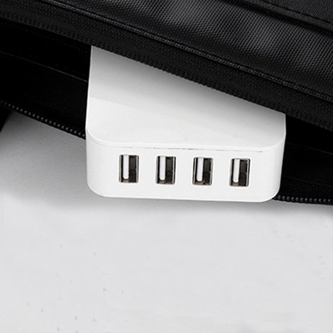 Hot sale Customize logo 4 USB outputs table top menu 4500ma universal cell phone battery charger