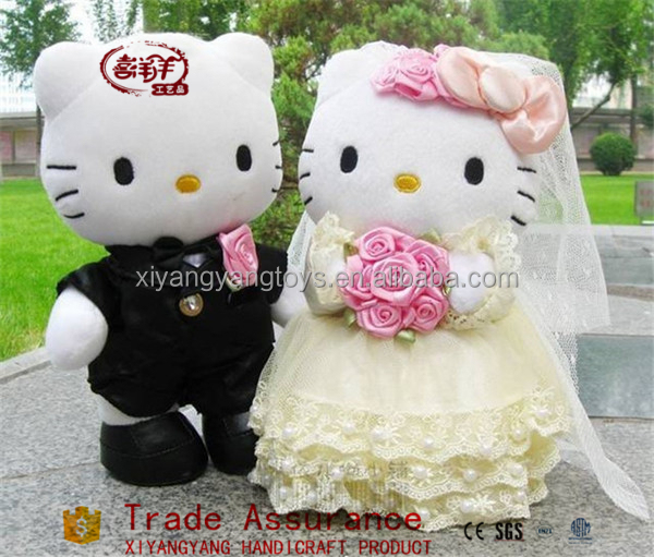 The wedding plush car dolls teddy wedding gift teddy bear toy