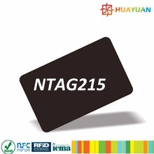 Programme PVC contactless RFID NTAG 215 NFC card