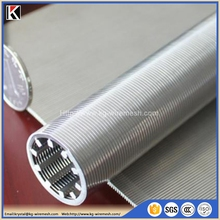 stainless steel continuous slot wedge wire screen for drilling equipment