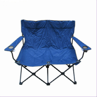 Iron Metal Type and Beach Chair Specific Use folding double seat camping chair