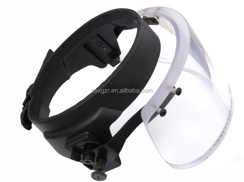 Guangzhou Xinxing High Quality Bulletproof Glass Visor with PC Material for PASGT Helmet