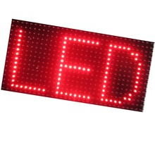 Single Red P10 scrolling text message led display panel for outdoor