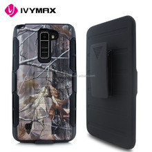 Printed image holster combo case with kickstand mobile phone case for LG K10