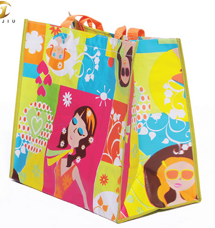 PP woven laminated Reusable convention bags