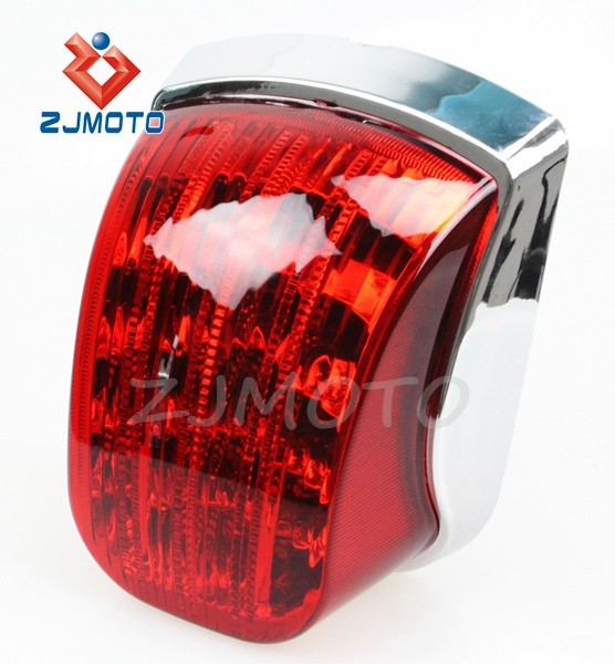 ZJMOTO Motorcycle Taillight Red Rear LED Tail Lamp Scooter Tail Lamps Vespa Taillight Px125 Px150 Px200 Tail Lights