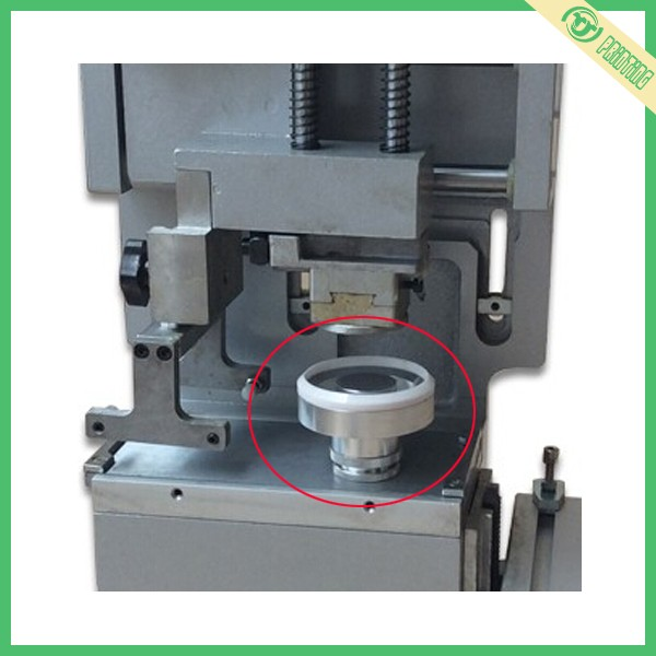 Pad printing ink cup with ceramic ring