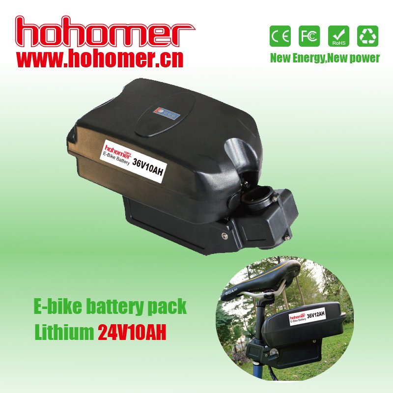 Hohomer electric bike Lithium-ion material rechargeale battery pack 24V 10AH