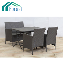 steeland rattan table and chair set