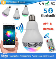 Xinbaosheng factory outlets music bulb innovation bluetooth mini speaker APP&remote control