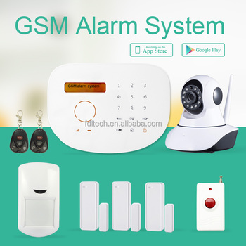FDL-WFK9G Wireless Home GSM Alarm Intelligent APP gsm alarm,yard security alarm system