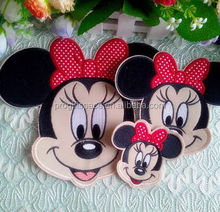 2017 hot sale professional design top quality new products custom home wall decoration felt mickey mouse sticker made in China