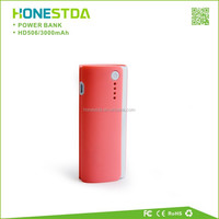 2015 hot selling 3000mAh led torch light portable power bank