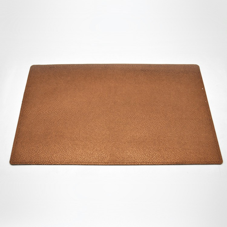 pu dish mat for hotel use embossed crocodile leather wholesale cheap placemat