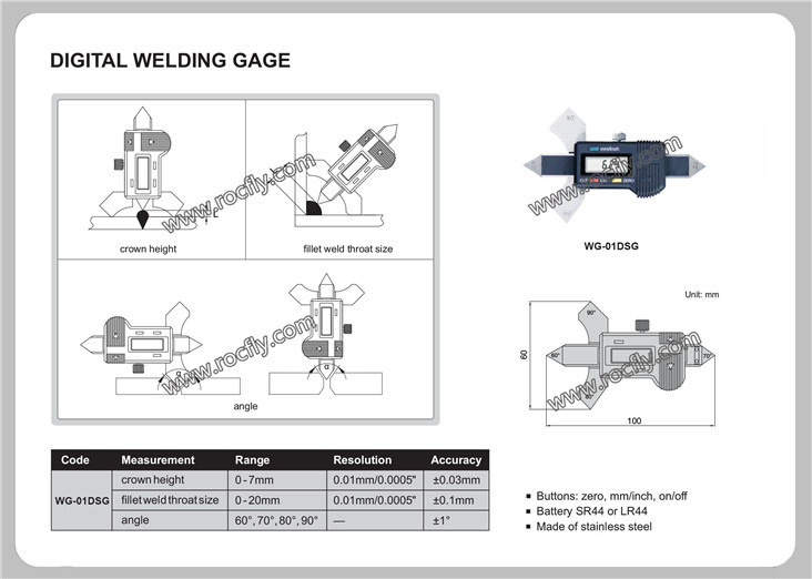 WG-01DSG Digital Welding Seam Gauge fillet weld gage