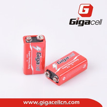 Hot sale! New product! Carbon zinc battery 6F22 9V battery