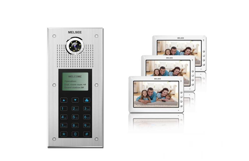 best smart home video door phone intercom system for multi  building apartment