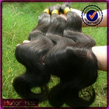 Hot selling top quality 1# body wave 100% Indian hair bulk accept paypal & escrow payment