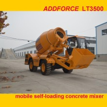 ADDFORCE greatly welcomed construction mixing machine LT3500 self loading mobile concrete mixer