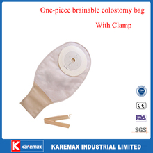 Brainable colostomy bag pouch with safety clip