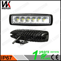 18w led 6X3w driving spot flood black lamps IP67 for boat car off road aldi led work light