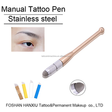 3D Microblading Manual Eyebrow pmu microblade Pen for permanent makeup paste tattoo ink