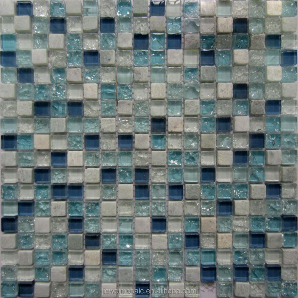 Chinese factory italian marble stone flooring tile glass mosaic