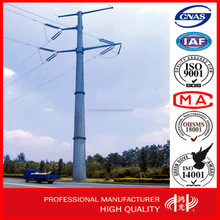 110KV Hot Dip Galvanized Conical Electric Steel Pole for Power Transmission Line