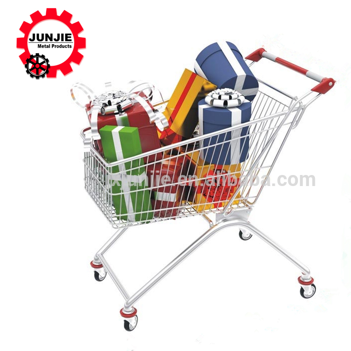 Big size multi-style/color shopping trolley for supermarket