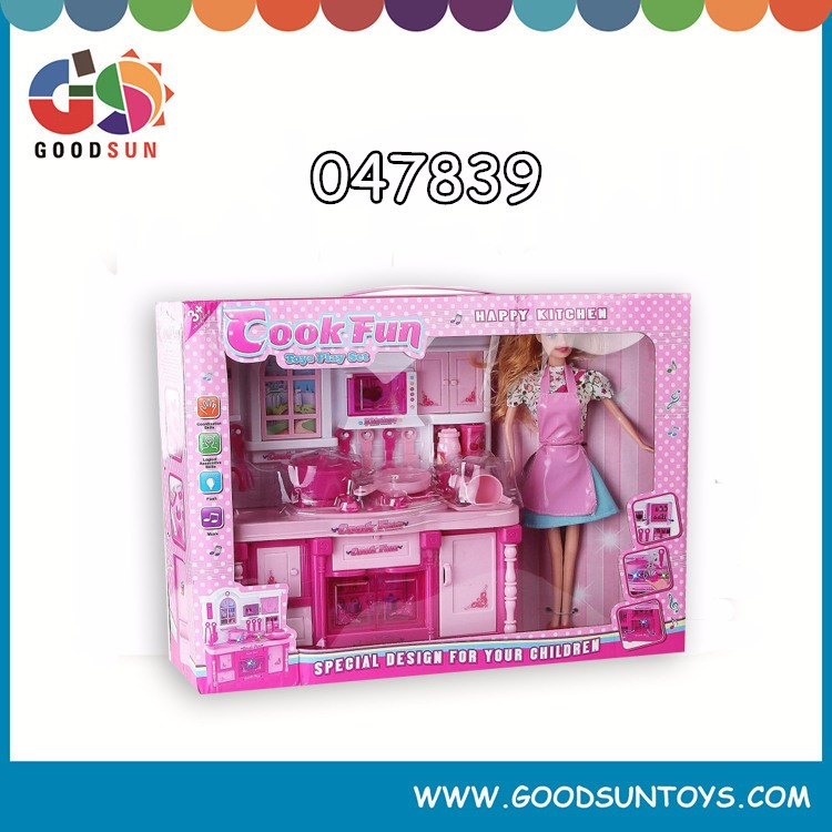 2016 Top Quality Kitchen Toys, Popular Girl Mother Garden Pretend Kitchen Toys , New Design Play Kitchen Sets Toys With Doll