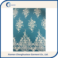 Cheap embroidery lace fabric ,bridal french lace fabric wedding dress lace suppliers