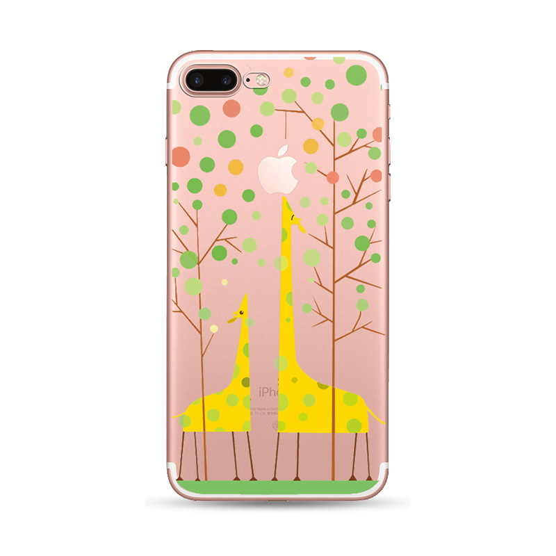 2019 Newest Yellow Giraffe Pattern Phone Case For 6/7/8/<strong>X</strong>, Simple Printable Colorful Soft Mobile Phone Shell For 6/7/8/<strong>X</strong>/XS/XR