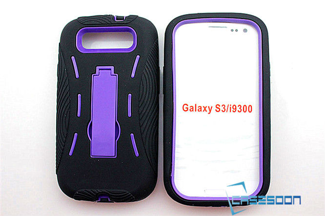 HARD BACK COMBO STAND CASE COVER FITS SAMSUNG GALAXY S3 I9300
