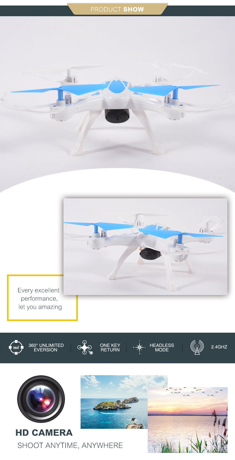 china factory 2.4g headless altitude hold dron quadrocopter for play
